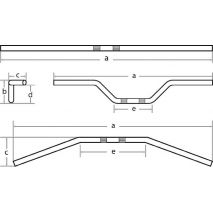 Fehling Fehling 6x ohýbané riadidlá Ape, vysoké, feh_7335-L-SB-2 - gap-trade-sk