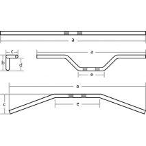 Fehling Fehling 6x ohýbané riadidlá Ape, vysoké, čierne, feh_7336-L-SB-2 - gap-trade-sk
